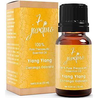 7 Jardins Ylang Ylang terapeutiske Grade Essential Oil - Cananga Odorata (100% ren, naturlige, Hypotensive, hovedbund pleje, elskovsmiddel & antiseptisk)