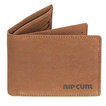Rip Curl de portefeuille en cuir avec CC, note et pièce ~ marron Original