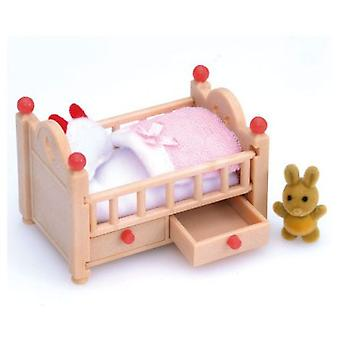 Sylvanian Families Cot (Toys , Dolls And Accesories , Miniature Toys , Accessoiries)