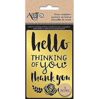 Art-C Brass Stencil-Thinking Of You 30205