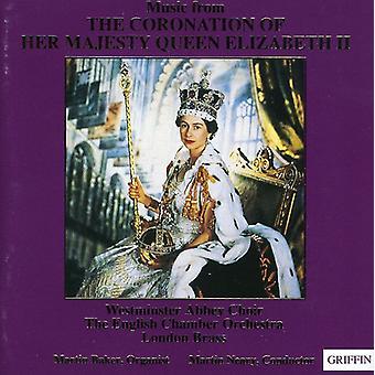 Westminster Abbey koret - musik fra the kroningen af hendes Majestæt Dronning Elizabeth II [CD] USA importerer