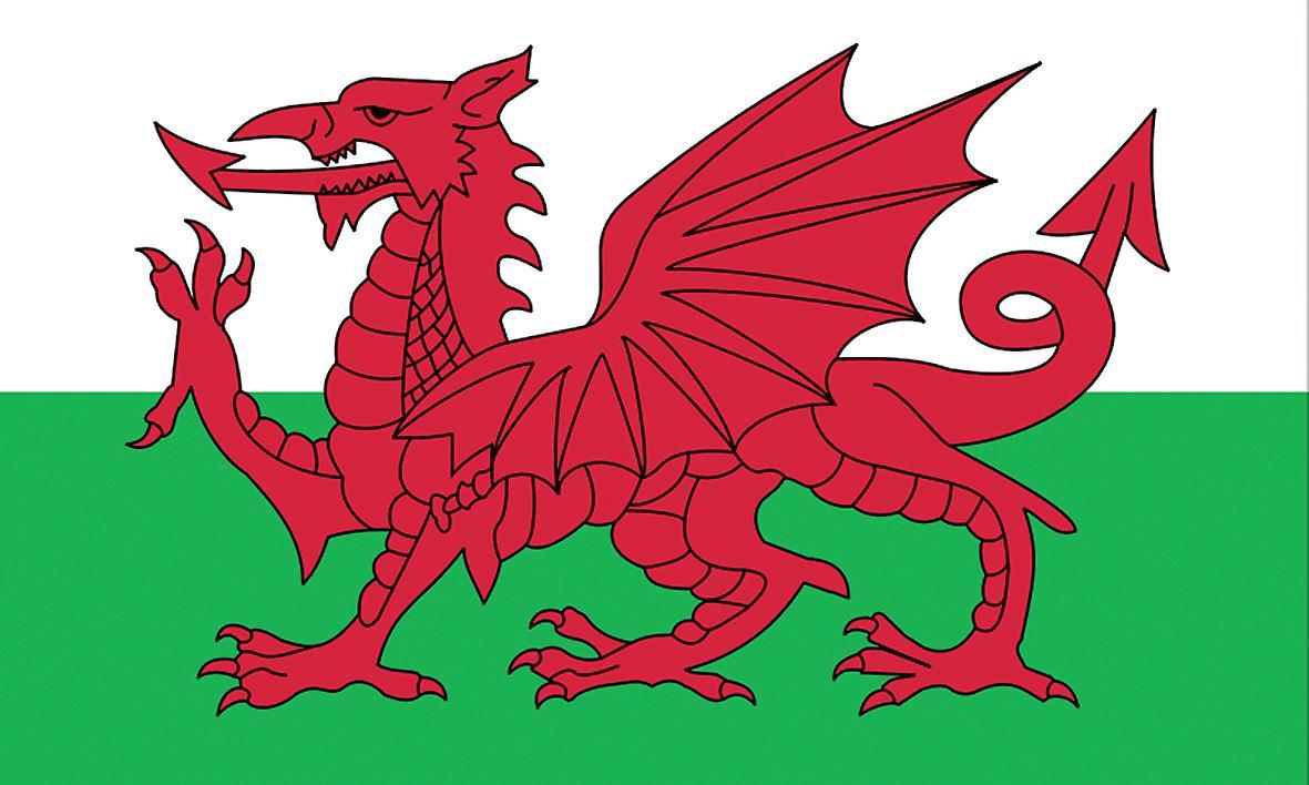 5ft x 3ft Flag - Wales - Welsh Dragon