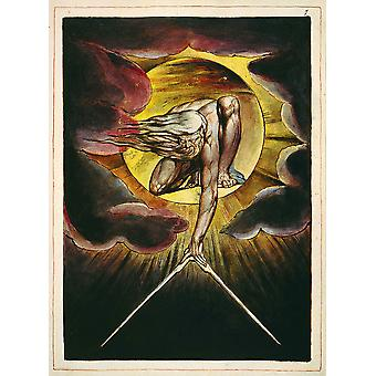 William Blake - Europe a Prophecy Clouds Poster Print Giclee