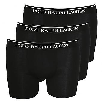 Polo Ralph Lauren 3-Pack Classic Boxer Briefs, Black