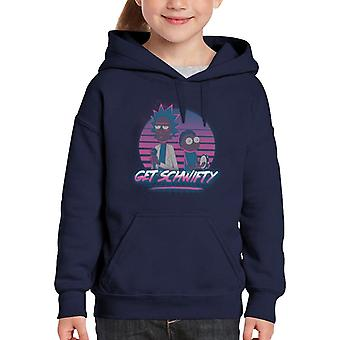 Rick And Morty Get Schwifty Kid's Hooded Sweatshirt
