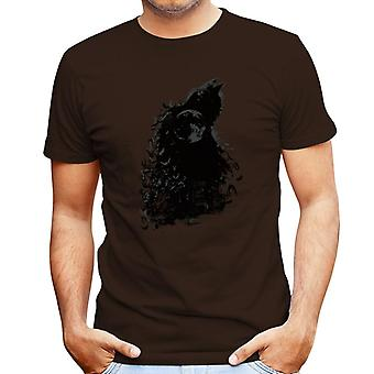 Batman Dark Knight Silhouette Moon Men's T-Shirt