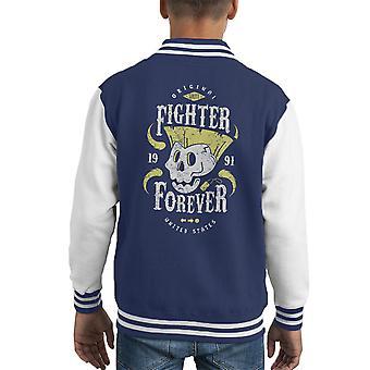 Fighter na zawsze podstępu Street Fighter Kid uniwerek kurtka