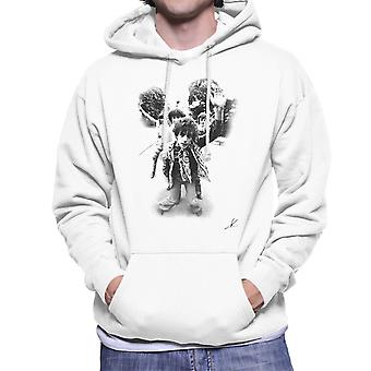 Pink Floyd Gates Of Dawn Cover Outtake Black And White Men's Hooded Sweatshirt