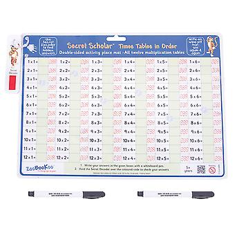 ZooBooKoo Times Tables in Order with Secret Decoder - Multiplication for 5+ Yrs