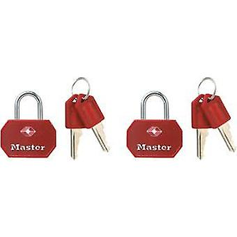 Masterlock 2 x 30mm Padlock Tsa Ka - Red Blue (DIY , Hardware)