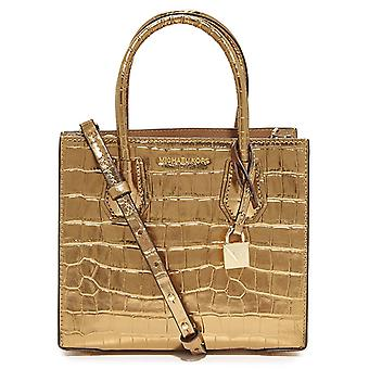Michael Kors Mercer Metallic Embossed-Leather - Crossbody - Gold - 30F7MM9M6K-710