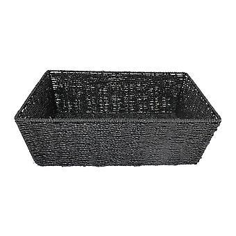 Mittlere schwarze Papierfach Seil