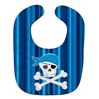 Carolines Treasures  BB8980BIB Pirate Skull and Cross Bones Baby Bib