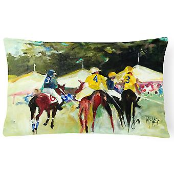 Polo at the Point Canvas Fabric Decorative Pillow