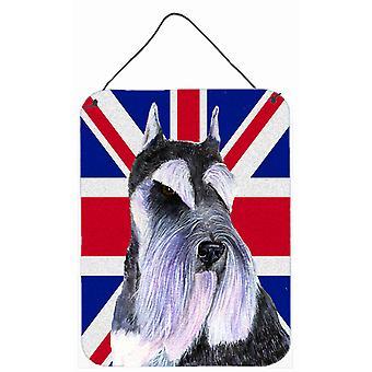 شناوزير مع الجدار العلم البريطاني جاك الاتحاد الإنكليزي أو يطبع شنقاً الباب