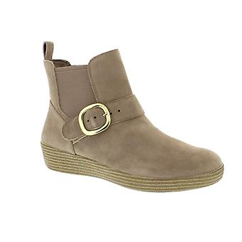 FitFlop Superbuckle Chelsea Boot - Desert Stone (Beige) Womens Boots