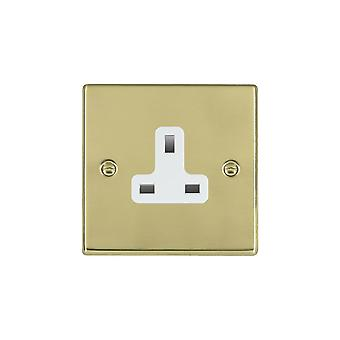 Hamilton Litestat Hartland Polished Brass 1g 13A Unswitched Socket WH
