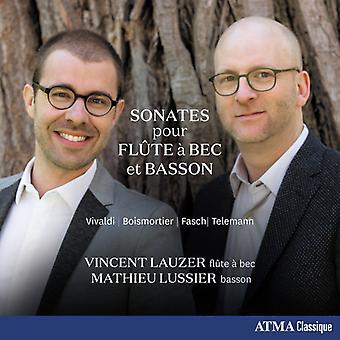 Lauzer * Vincent / Lussier * Mathieu - sonater för Recorder & fagott: Vivaldi Telemann [CD] USA import