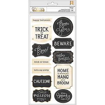 Midnight Haunting Phrase Thickers Stickers 5.5
