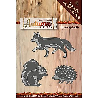 Find It Trading Yvonne Creations Autumn Colors Die-Forest Animals YCD10108