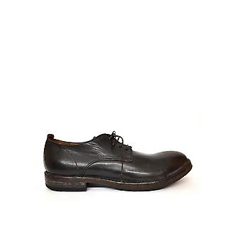 MoMA men's 54605MARRONE brown leather lace-up shoes