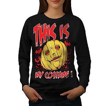Halloween Kostüm Horror Frauen BlackSweatshirt | Wellcoda