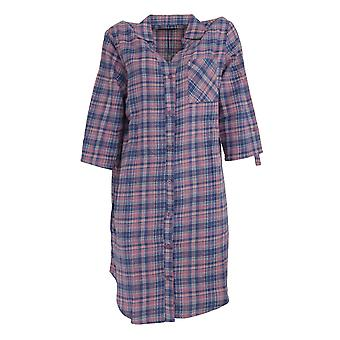 Follow That Dream Womens/Ladies Yarn Dyed Check Night Shirt