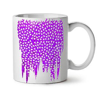 Triangle Pattern Fashion NEW White Tea Coffee Ceramic Mug 11 oz | Wellcoda