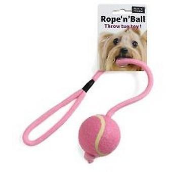 Ruff N Tumble Rope N Ball Throw Tug Dog Toy