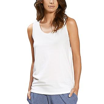 Mey 16734-1 Women's Lovestory White Solid Colour Pajama Sleeveless Pyjama Top