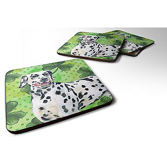 Set of 4 Dalmatian St Patrick's Foam Coasters Set of 4