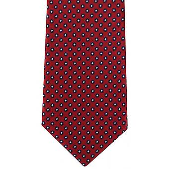 Michelsons of London Basic Neat Polyester Tie - Red