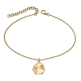 Elements Gold Hammered Finish Disc Bracelet - Gold