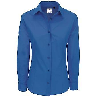 B&C Collection Heritage Long Sleeve Ladies Poplin Cotton Formal Work Shirt