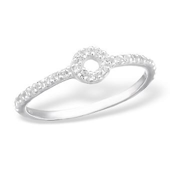 Runde - jeweled 925 Sterling Silber Ringe - W24079X