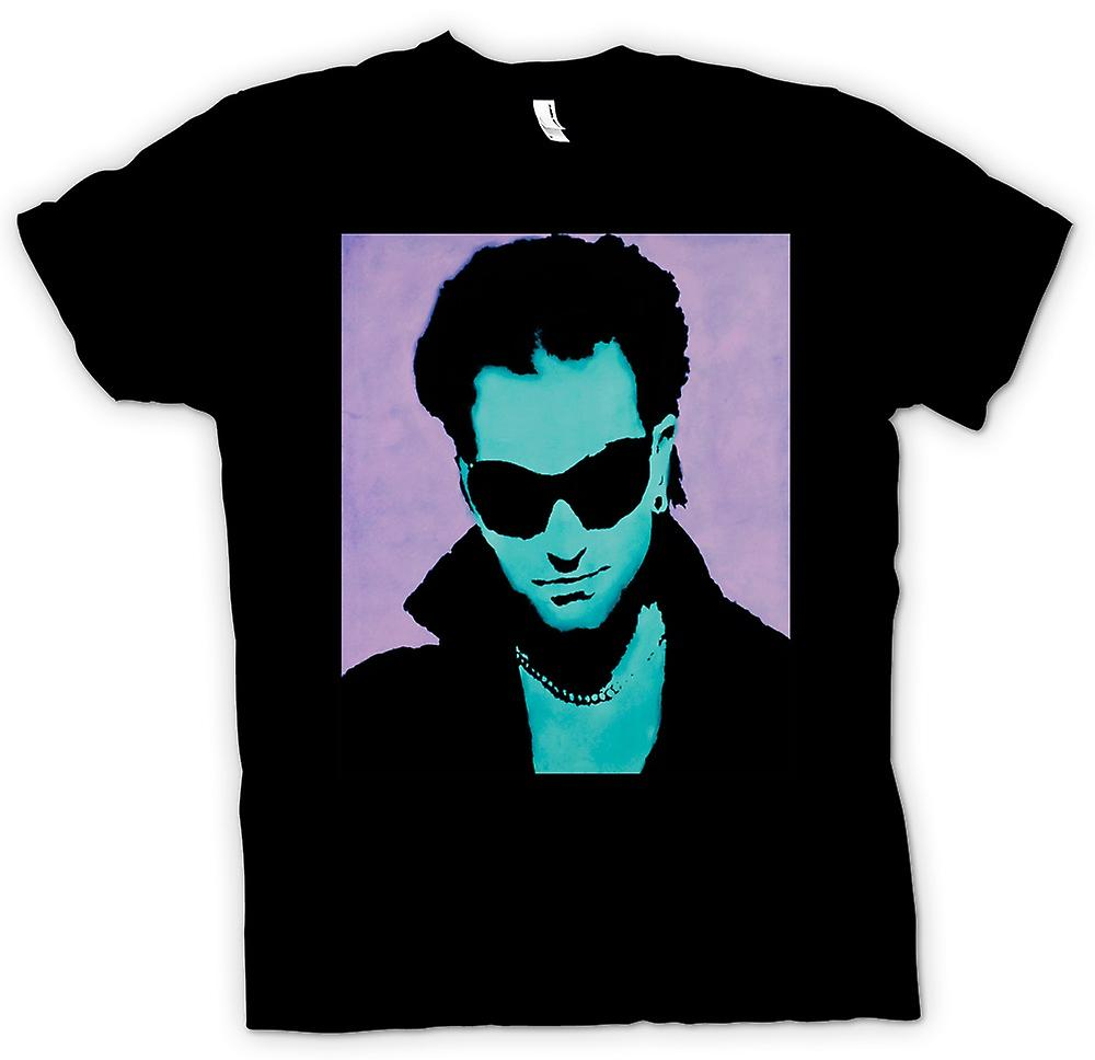 Mens T-shirt - U2 - Bono - Pop-Art