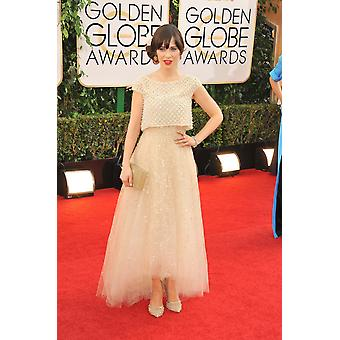 Zooey Deschanel At Arrivals For 71St Golden Globes Awards - Arrivals The Beverly Hilton Hotel Beverly Hills Ca January 12 2014 Photo By Linda WheelerEverett Collection Celebrity