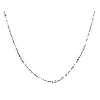 Orphelia Silver 925  Chain 42+3 Cm Rose Gold Balls  ZK-7200/RG