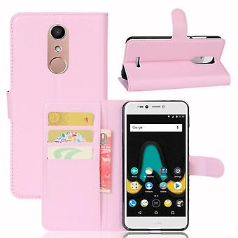Pocket wallet premium Pink for WIKO Upulse Lite protection sleeve case cover pouch new