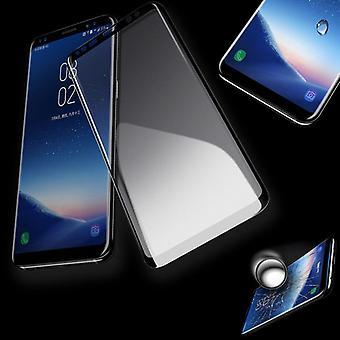 4D Full Premium 0,3 mm gebogenes Hart Glas Schwarz Folie für Samsung Galaxy S9 Plus G965F