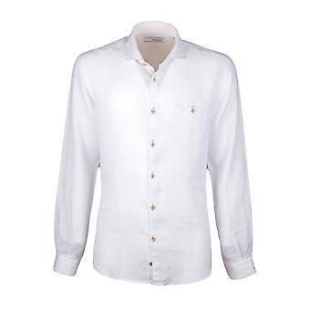 Fabio Giovanni Vincenzo Shirt - Mens High Quality Italian Linen White Plain Shirt