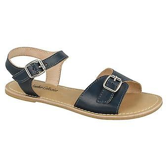 Leather Collection Womens/Ladies Buckle Strap Sandals