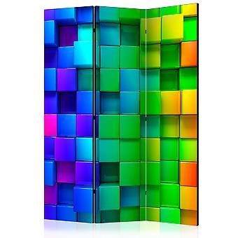 Skærmvæg - Colourful Cubes [Room Dividers]
