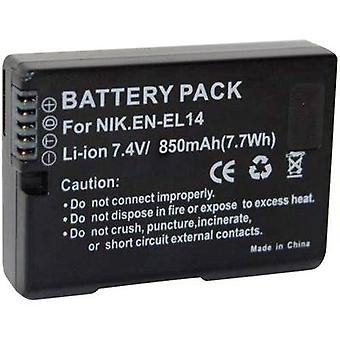 Camera battery Conrad energy replaces original battery EN-EL14 7.4 V