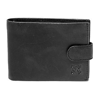 Oxbow Severia Bi-Fold Leather Wallet - Black