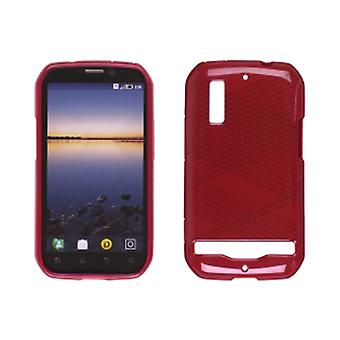 Ventev kryds og tværs Dura-Gel tilfældet for Motorola Photon 4G MB855 (rød)