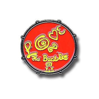 The Beatles Drum Love Logo Red new Official Metal Pin badge