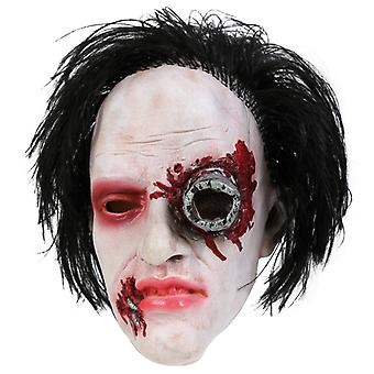 Three quarters mask horror mask hair LaTeX cyborg Halloween