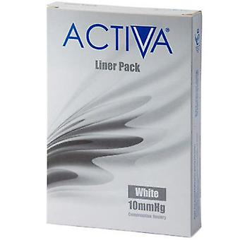 Activa compressie kousen panty's Liners witte Lge 10Mmhg 3