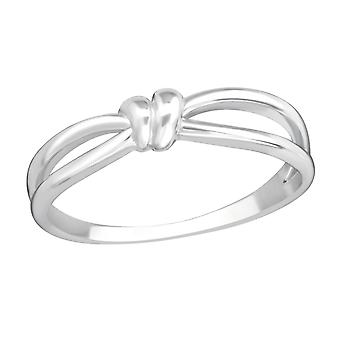 Knot - 925 Sterling Silver Plain Rings - W37192x